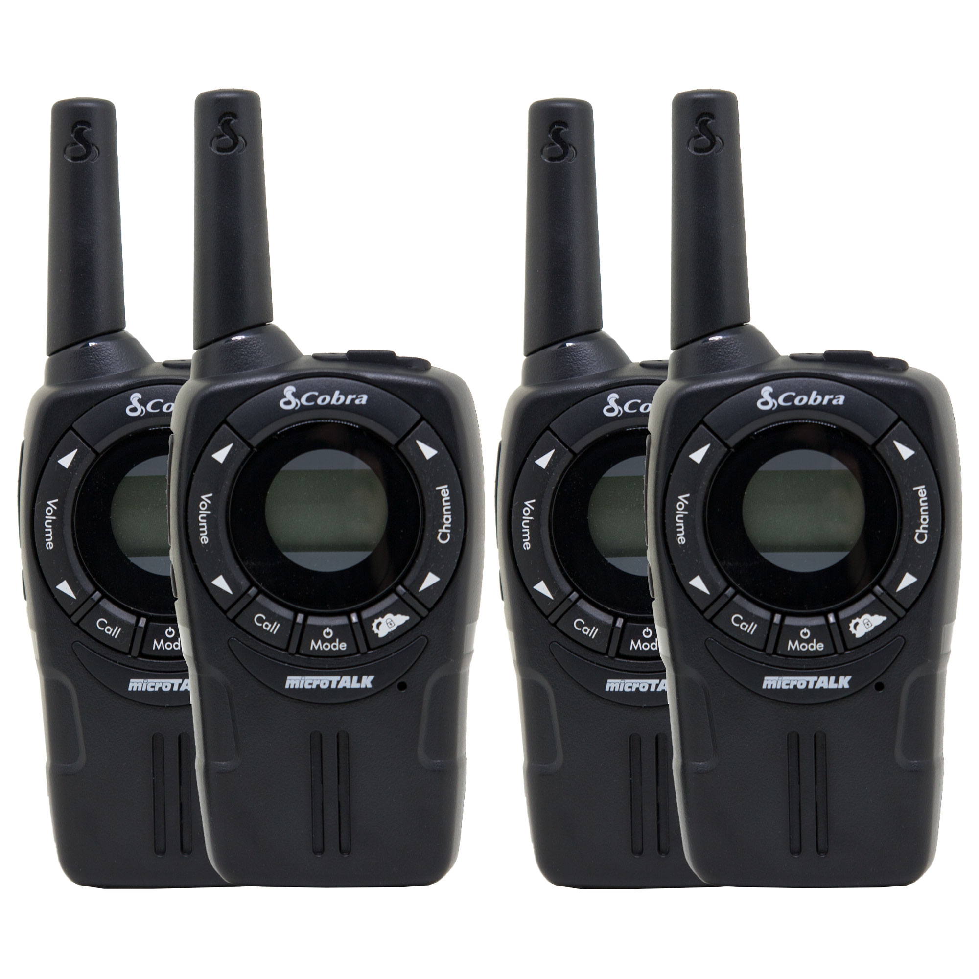 Cobra CXT235 MicroTalk 20 Mi FRS/GMRS 22 Channel 2 Way Walkie Talkie (4 Radios)