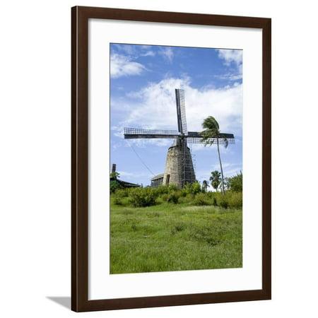 Sugar Mill. Barbados Framed Print Wall Art By Tom Norring