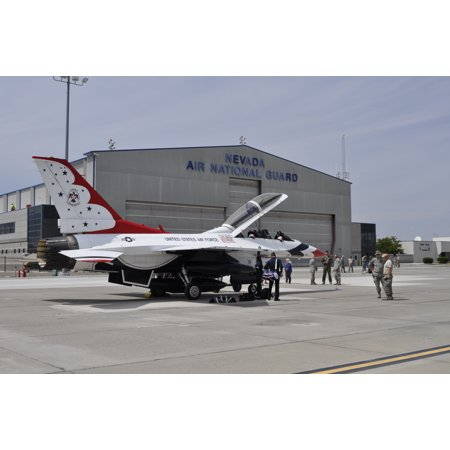 LAMINATED POSTER U.S. Air Force Thunderbird jet No. 8 arrives at Nevada Air National Guard Base in Reno, Nev., for ai Poster Print 24 x 36