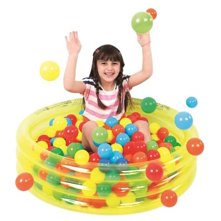 """36"""" Transparent Yellow Inflatable Children's Play Pool Ball Pit - image 1 de 1"""