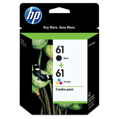 HP 61 2-pack Black/Tri-color Original Ink Cartridges ()