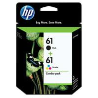 HP 61 Black & Tri-color Original Ink, 2 Cartridges (CR259FN)