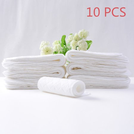 JOYFEEL Clearance 10PCS Reusable baby Diapers Cloth Diaper Inserts 1 piece 3 Layer Insert 100% Cotton Washable Baby Care Productsfor
