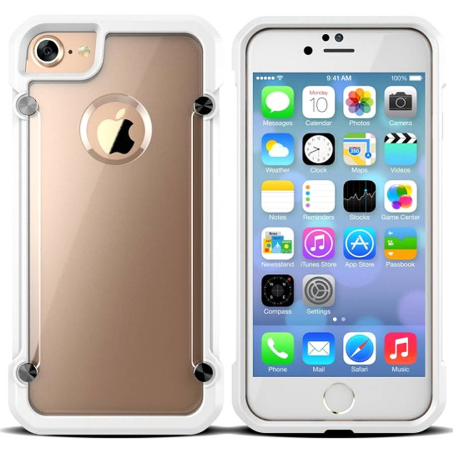 KIKO Wireless Premium Clear Defense Hybrid Armor Case for Apple iPhone 7 Plus