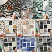 14 Styles 3D Self-Adhesive Kitchen Wall Tiles Bathroom Mosaic Brick Stickers Home DIY Decor Waterproof