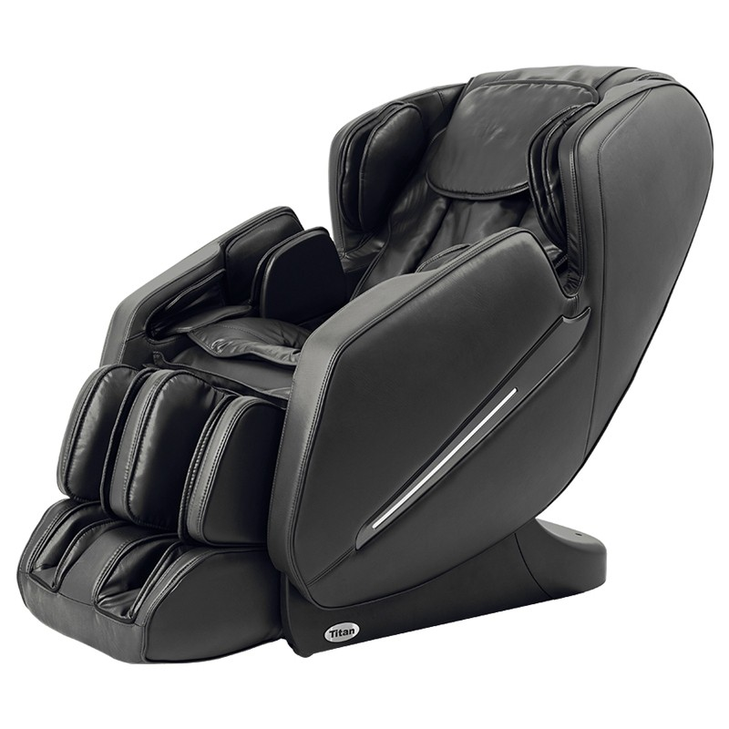 Titan TP-Carina L-Track Massage Chair with Space Saving, Zero Gravity, Foot Rollers, Black