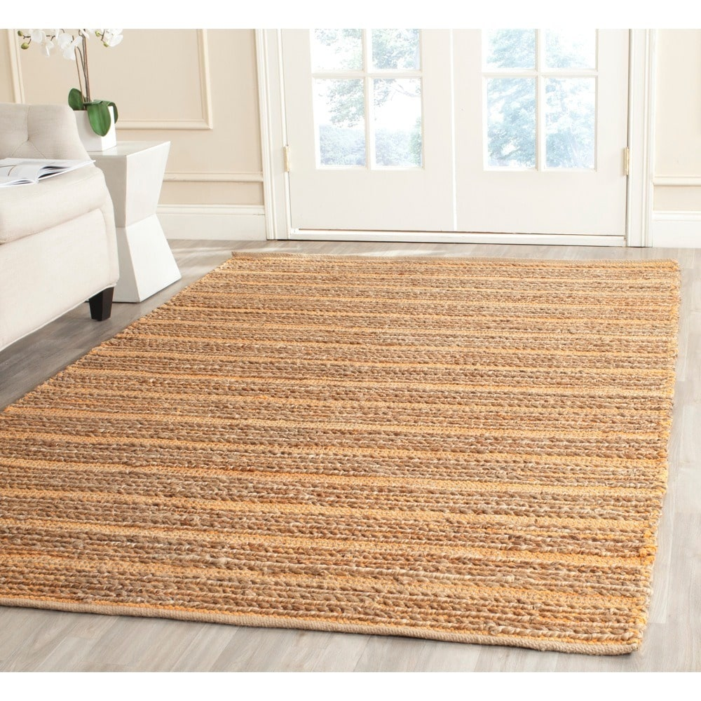 Safavieh  Cape Cod Handmade Orange Jute Natural Fiber Rug (8' x 10')