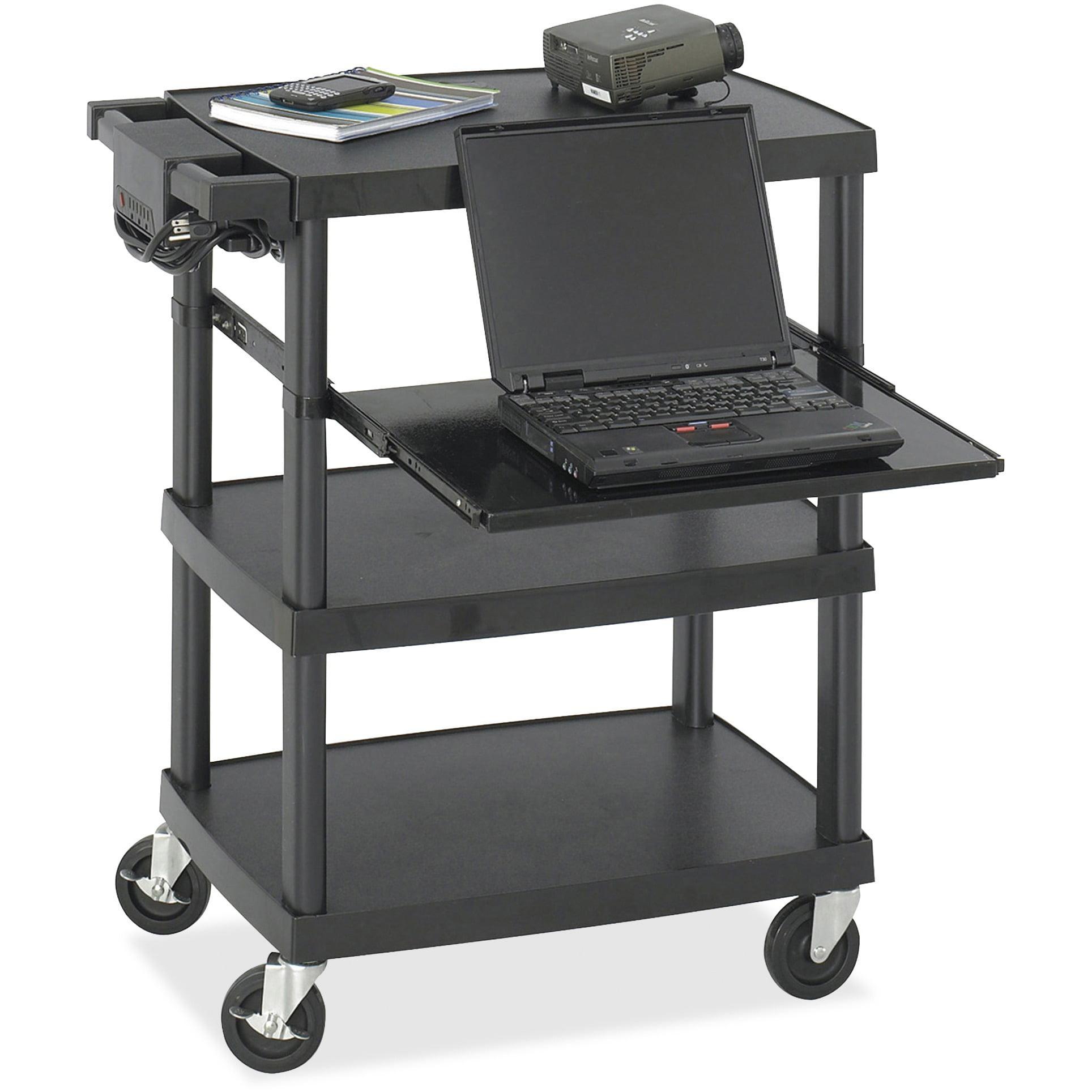 Safco, SAF8929BL, Multimedia Cart, 1 / Each, Black