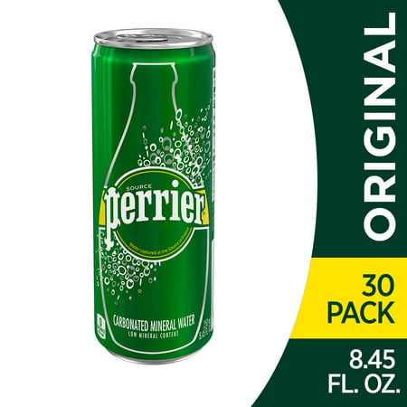 Perrier Carbonated Mineral Water, 8.45 fl oz. Slim Cans (30 (Sparkling Mineral Water)