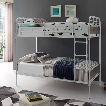 - Taylor & Olive  Baikal Twin over Twin Metal Pipe Bunk Bed