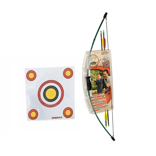Bear Archery Youth First Shot Bow Set with Delta Economy Target