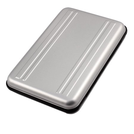 Aluminum Alloy 16 Slots SD TF Memory Card Storage Case Box Container Silver Tone - image 1 of 3