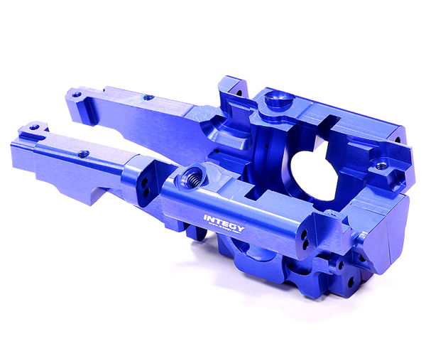 Integy RC Toy Model Hop-ups T3296BLUE Billet Machined Rear Bulkhead for 1 10 Traxxas... by Integy