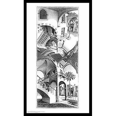 High and Low - MC Escher Poster Poster Print (Mc Escher Poster)