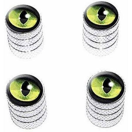 - Cat Green Eye Tire Rim Wheel Aluminum Valve Stem Caps, Multiple Colors