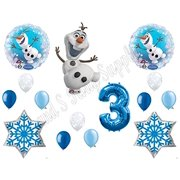 NEW!! OLAF 3rd SNOWFLAKES Balloons Birthday party Decoration Supplies Frozen Elsa by Anagram