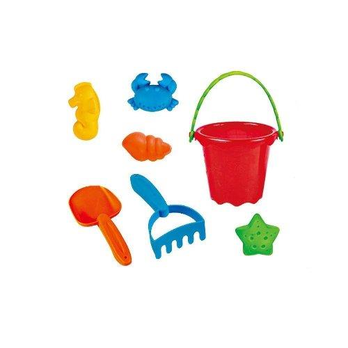 Lightahead Beach Bucket Toys Playset for Kids with 7 pcs accessories Children Beach Sand Toys Set by Supplier Generic