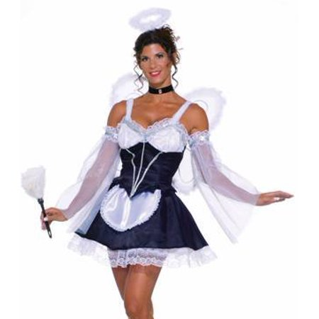 Womens Sexy French Maid Angel Heavenly Fantasy Halloween Costume XS/Small (2-6)
