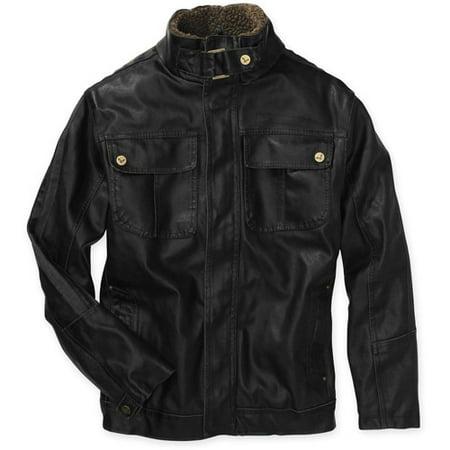 e96250c67 Boys' Faux Leather Jacket - Walmart.com