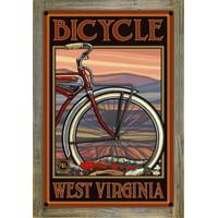 """Bicycle West Virginia Old Half Bike Metal Art Print by Paul A. Lanquist (9"""" x 12"""")"""