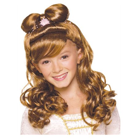 Child Brown Brunette Renaissance Elegant Princess Wig (Renaissance Period For Kids)
