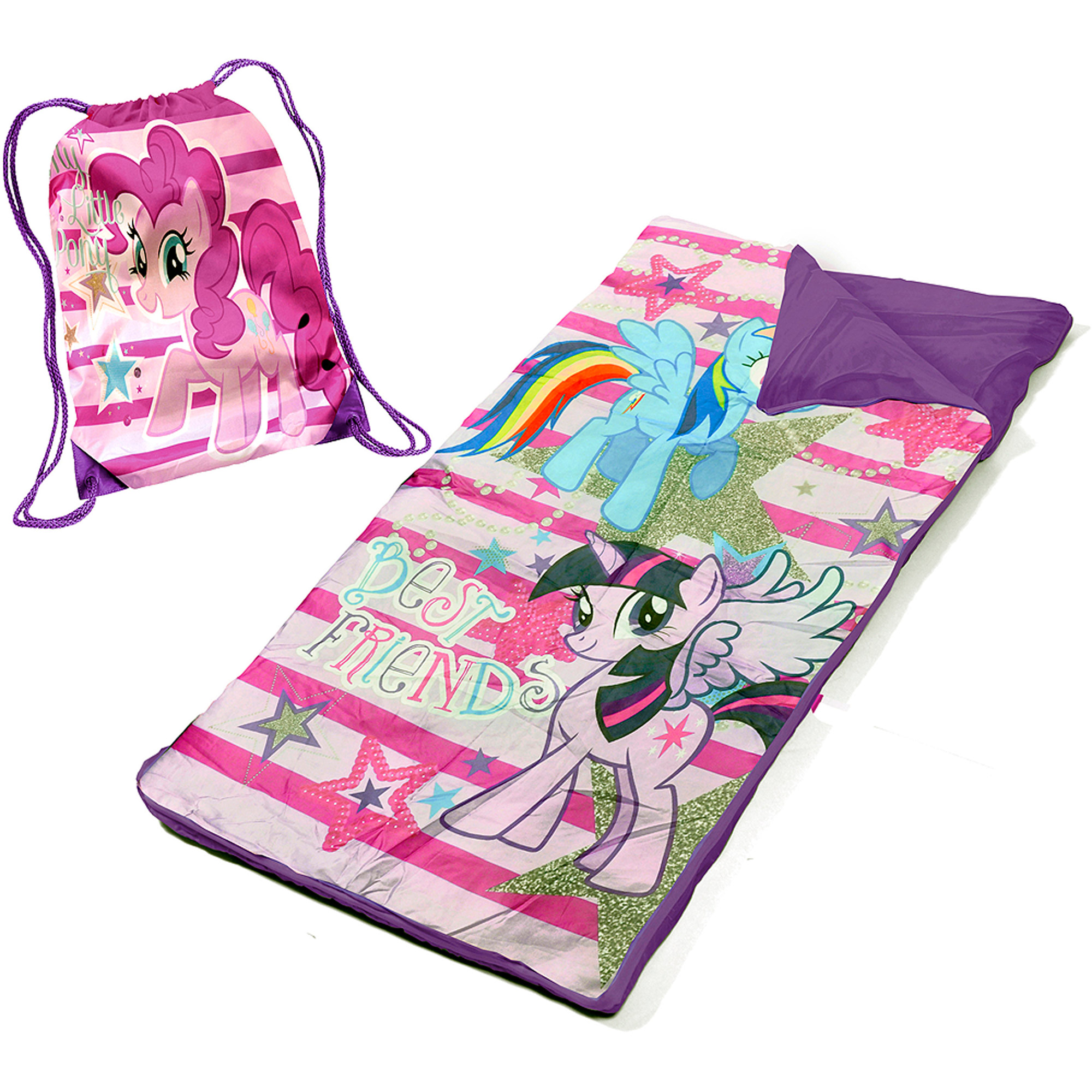 My Little Pony Slumber Set/Nap Mat With BONUS Sling Bag