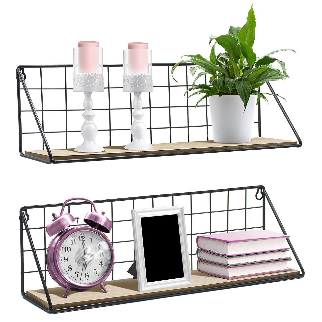 glamorous decorative bathroom wall shelves | Sorbus Floating Shelves Wall Mounted Rustic Wood Storage ...