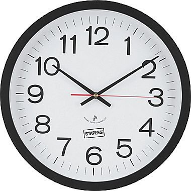 Staples 14 Quot Round Atomic Wall Clock 18383 Walmart Com