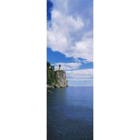 Lighthouse on a cliff, Split Rock Lighthouse, Lake Superior, Minnesota, USA Print Wall (Lake Superior Lighthouses)