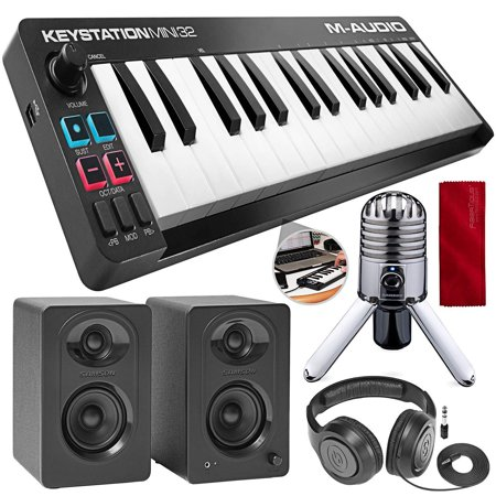 m audio keystation mini 32 ii ultra portable 32 key usb midi keyboard controller with studio. Black Bedroom Furniture Sets. Home Design Ideas