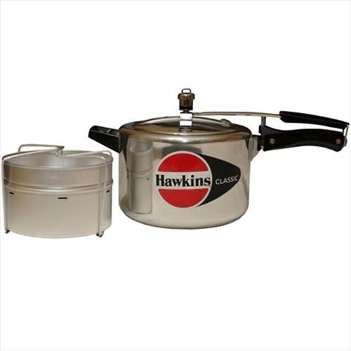 Hawkins B21 Classic Aluminum Pressure Cooker with Separator, 5-Liter