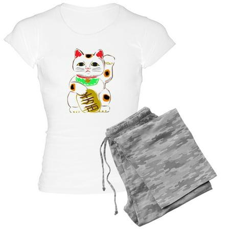 4c34b7c7 CafePress - Japanese Lucky Cat - Women's Light Pajamas - Walmart.com