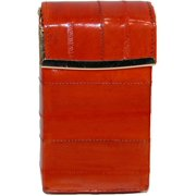 Marshal Leather  Eel Skin Cigarette Case with Hinged Closure (Women's)