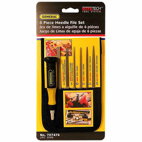 General Tools 707476 6-Piece Swiss Pattern Needle File Set