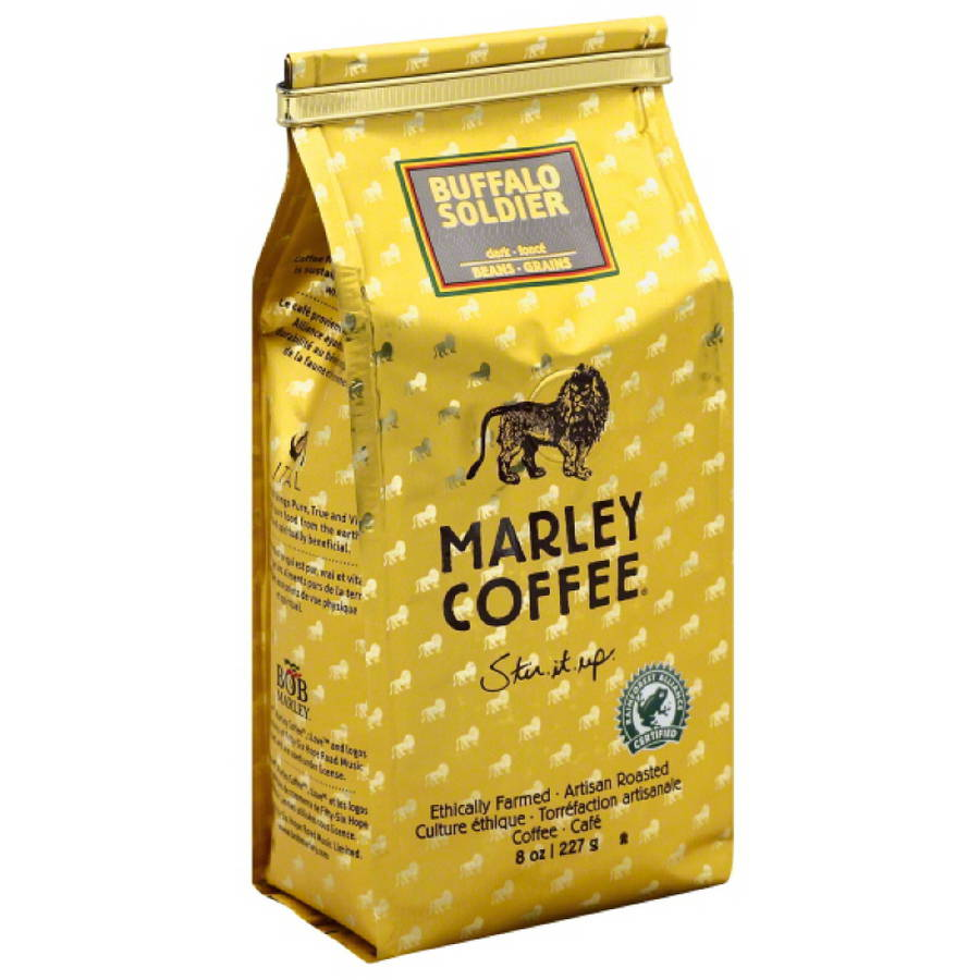 Marley Coffee Buffalo Soldier Whole Bean Coffee, 8 oz, (Pack of 8)