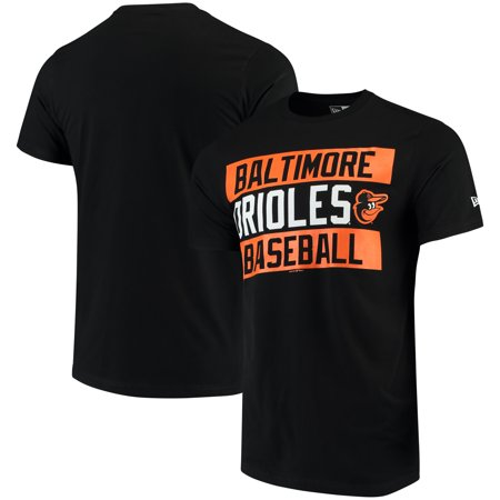 Baltimore Orioles New Era Bars Jersey T-Shirt - Black - Attractions In New Jersey For Halloween