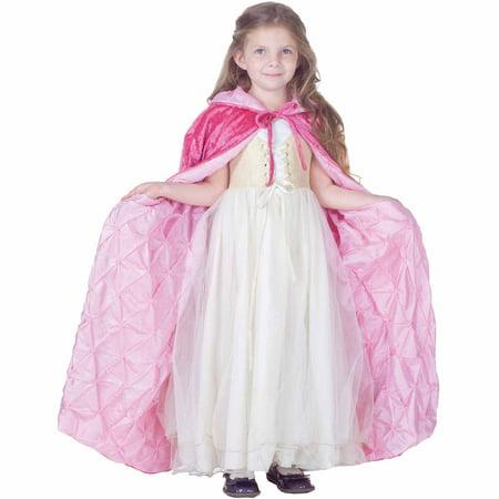 Pink Panne Velvet Cape Child Halloween Costume