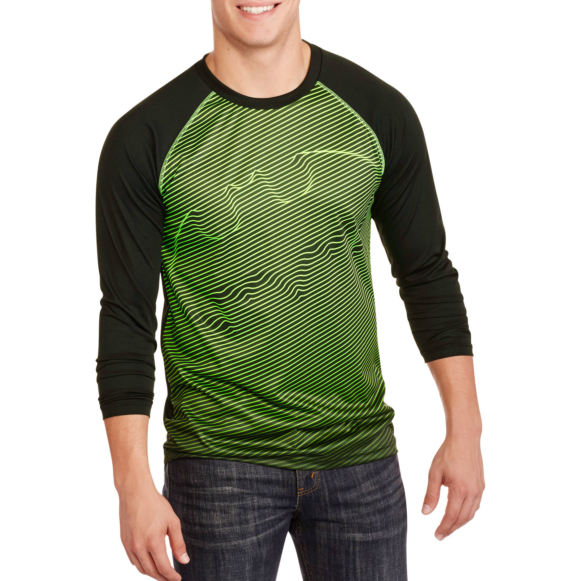 Batman Fade Men's Graphic Long Sleeve Poly Tee by