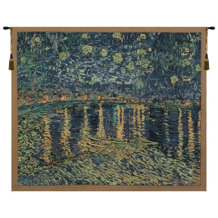 Van Gogh's Starry Night Over the Rhone Tapestry Wholesale - B - H 26 x W 33 - image 1 of 1