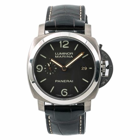 Panerai Marina - Pre-Owned Panerai Luminor Marina 1950 PAM00351 Titanium  Watch (Certified Authentic & Warranty)