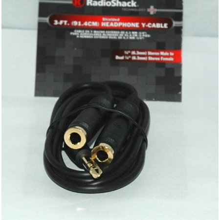 Gold Plated 3 Foot 1 4  Stereo Y Cable By Radioshack