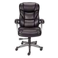 Staples Osgood Bonded Leather High-Back Manager's Chair (Black)