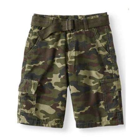 2871af0319 Road Block - Belted Camo Cargo Shorts (Big Boys) - Walmart.com