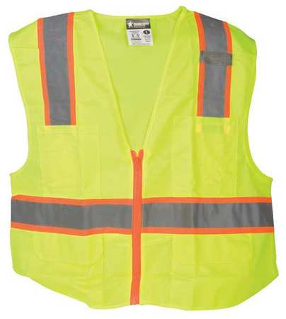 MCR SAFETY High Visibility Vest,Class 2,3XL SURVLX3