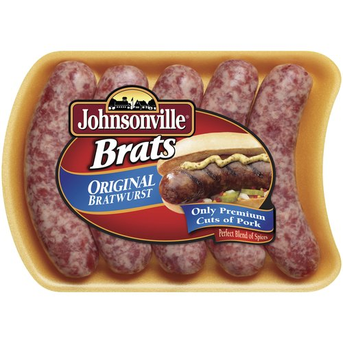 Johnsonville Fresh Pork Sausage Links Bratwurst Original 19oz