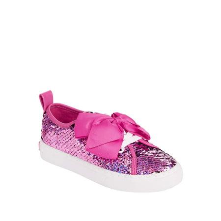 JoJo Siwa Girls' Shimmer Reverse Sequins Low Top Sneaker