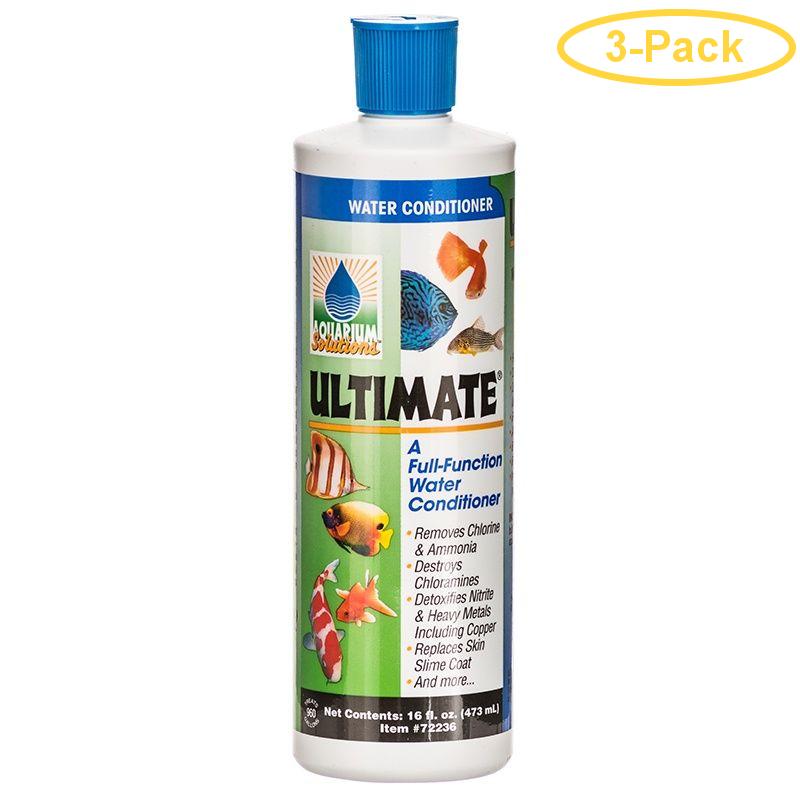 Aquarium Solutions Ultimate Water Conditioner 16 oz - Pack of 3