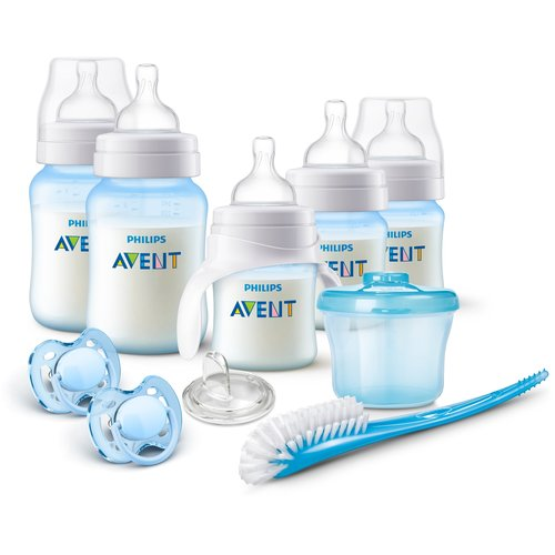 Philips Avent Anti-Colic Baby Bottle Newborn Starter Set, Blue, BPA-Free by Philips AVENT