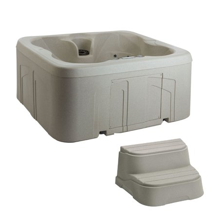 - Lifesmart Spas Simplicity 4-Person Plug & Play Hot Tub Spa with Cover & Steps