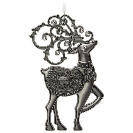 Hallmark Keepsake Christmas 2019 Year Dated Regal Deer Ornament, Metal, ()